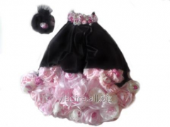 Dress children's elegant with roses from