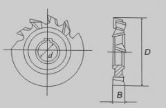 Фрезы дисковые трехсторонние с разнонаправленными