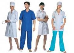 Medical clothes at retail and wholesale, tailoring