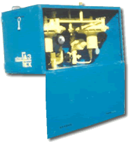 Installations are gas control cupboard