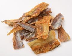 Fish dried and dried. Amber with pepper. Seafood.