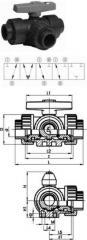 Three-running spherical crane type 343, horizontal