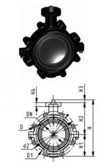 Опорный дисковый затвор тип 568,  PVC-UС...