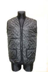 Vest from a sheepskin in balonovy fabric