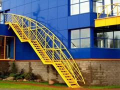 Ladders, steps and handrail!!! Metal ladders of