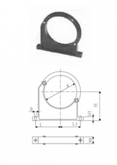 Clamps for pipes type 060, RR metric