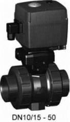 Шаровой кран тип 107 PVC-U100-230 В