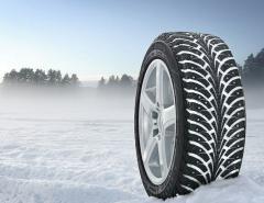 ¡Los neumáticos para el viaje por la nieve, los