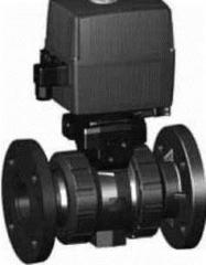 Шаровой кран тип 130,  PVC-U,  24 В