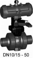 Шаровой кран тип 230 PVC-UDA(двойного...