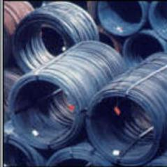 Steel wire of round section for production of