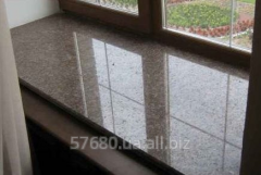 Window sills from granite and marble, the
