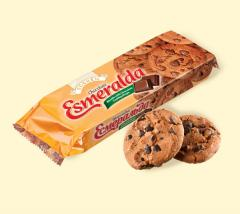Cookies Esmeralda chocolate with pieces of