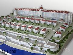 Архитектурно-планировочные макеты зданий,