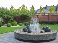 Fountains are garden