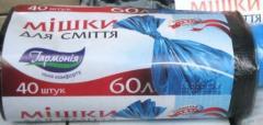 Пакеты для мусора 60литров - 40штук.