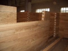 The bar is glued oak construction