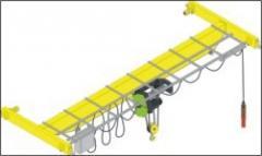 The bridge single-beam basic crane, loading