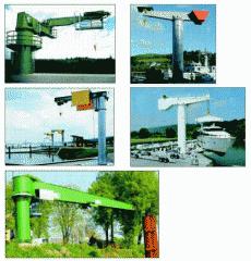 Bracket crane with center column, pr-in