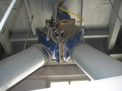 The cement stream distributor, is installed at the