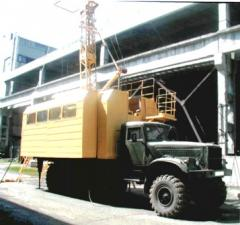 Installation self-propelled kolonkovy drilling of