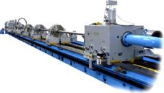 Machines boring and jib-boring for processing of