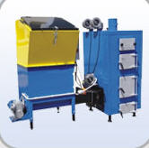 Equipment for production of fuel briquettes,