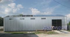 Hangars, warehouses, granaries