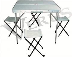 Table furniture for a camping