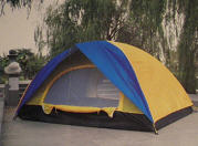 The tent is touris