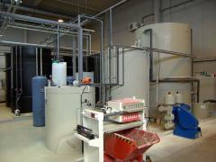 Complex of the equipment for sewage treatment of