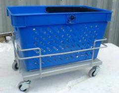 Carts under consumer baskets (Baggage carts)