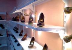 Стеллажи для обуви (стеллажи торговые)