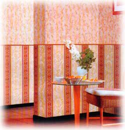 Wall-paper is acrylic