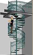 Лестница винтовая металлическая Ровеньки.