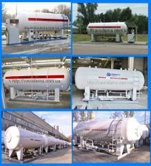 Stationary refueller of gas( ground)