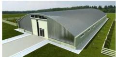 Hangars, shelters, beskarkasny and frame