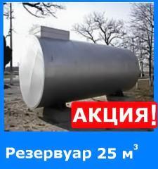 РЕЗЕРВУАР 25 куб. м (АКЦИЯ!!!) с двойной стенкой металлические для хранения нефтепродуктов