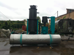 Gas generator, gas from solid fuel