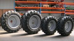 Tires of domestic and import producers for farm