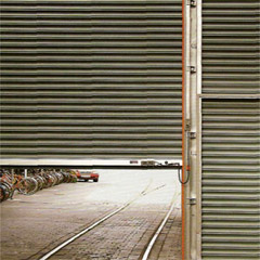 Section garage gate of Hormann, rolled gate