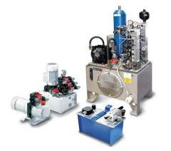 Hydraulic pump stations in wide assortment