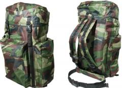 Backpack of 80 l camouflage
