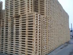 Поддон, европоддон деревянный