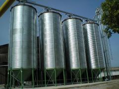 Емкости для хранения зерновых с конусным днищем