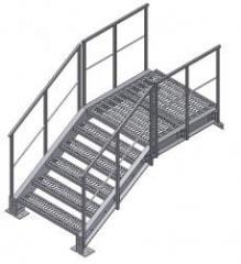 Escadas de metal