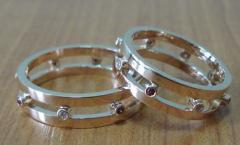 Rings from jeweler metals