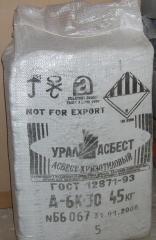 Asbestos hrizotilovy / asbestine fiber / pushonka