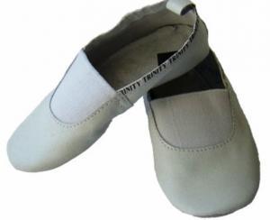 Чешки модель 3 белые. Детская танцевальная обувь из натуральной кожи