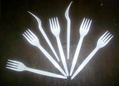 Disposable fork (length of 16 cm)
